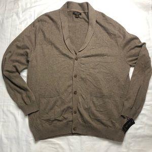 Tasso Elba NWT men's tan cardigan sweater size xxl